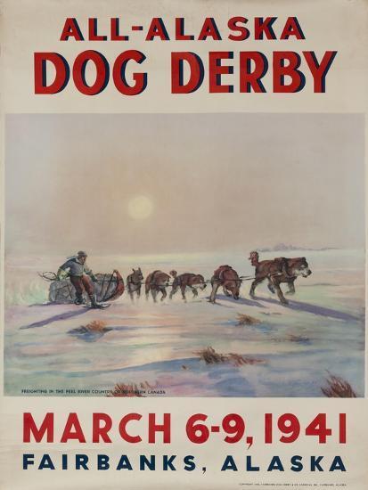 1941 All Alaska Dog Derby Poster--Giclee Print