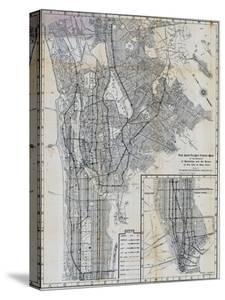 1941, Manhattan and The Bronx Map, New York, United States