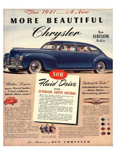 1941 New Beautiful Chrysler--Art Print
