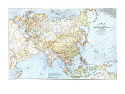1942 Asia, and Adjacent Areas Map-National Geographic Maps-Art Print
