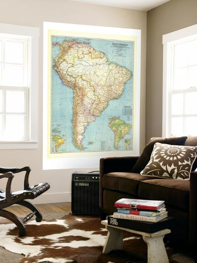 1942 South America Map-National Geographic Maps-Wall Mural