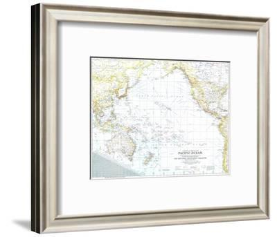 1942 Theater of War in the Pacific Ocean Map-National Geographic Maps-Framed Art Print