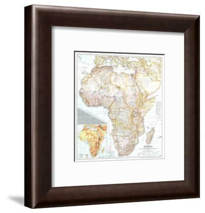 1943 Africa Map-National Geographic Maps-Framed Premium Giclee Print