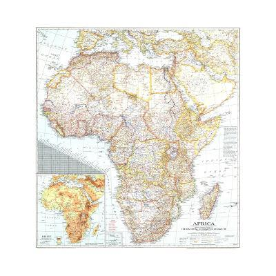 1943 Africa Map-National Geographic Maps-Art Print