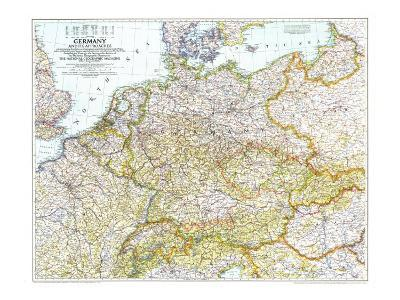 Map Of Germany 1944.1944 Germany And Its Approaches 1938 1939 Map Art Print By National