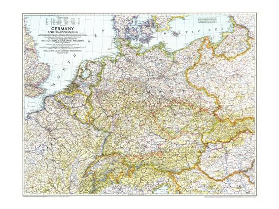 Map Of Germany To Print.1944 Germany And Its Approaches 1938 1939 Map Art Print By National Geographic Maps Art Com