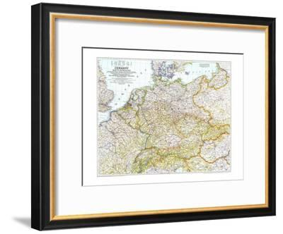 1944 Germany and Its Approaches 1938-1939 Map-National Geographic Maps-Framed Art Print