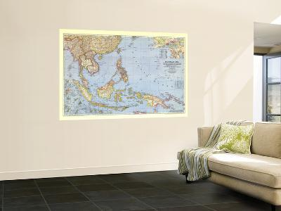 1944 Southeast Asia and the Pacific Islands Map-National Geographic Maps-Giant Art Print