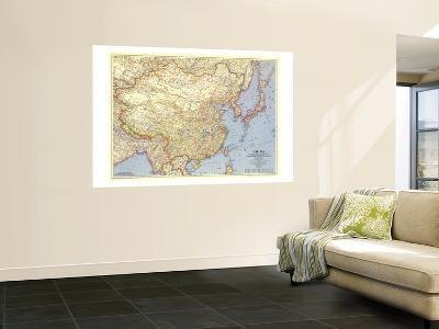 1945 China Map-National Geographic Maps-Wall Mural
