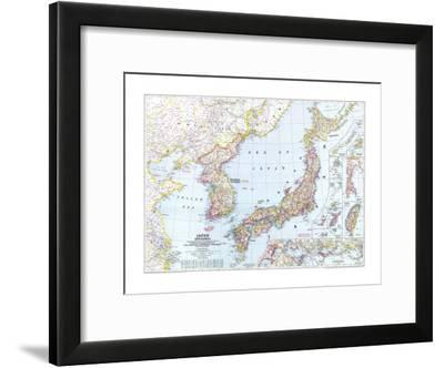 1945 Japan and Korea Map-National Geographic Maps-Framed Art Print