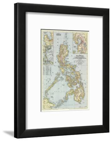 1945 Philippines Map-National Geographic Maps-Framed Art Print