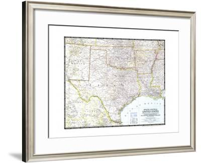 1947 South Central United States Map-National Geographic Maps-Framed Art Print