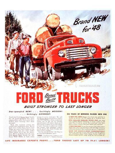 1948 Ford Truck-Built Stronger--Art Print
