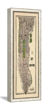 1949, Manhattan composite, 1949, New York, United States--Framed Stretched Canvas Print