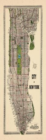 1949, Manhattan composite, 1949, New York, United States--Giclee Print