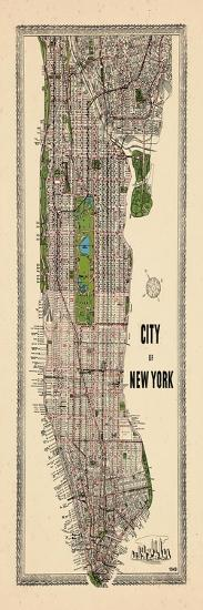 1949, Manhattan composite, 1949, New York, United States--Giclee Print