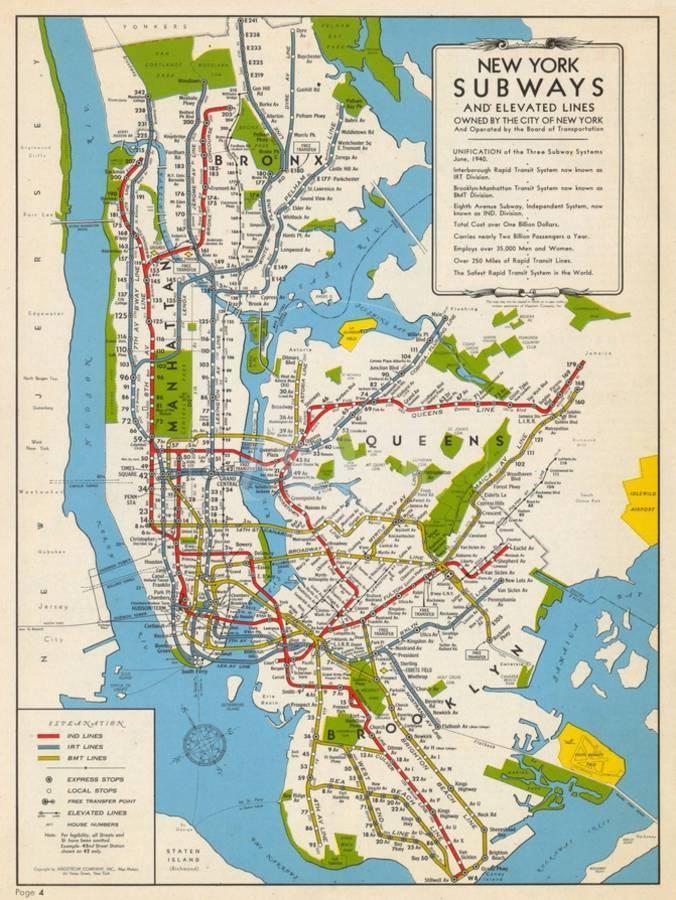 Ny City Subway Map.1949 New York Subway Map New York United States Giclee Print By Art Com