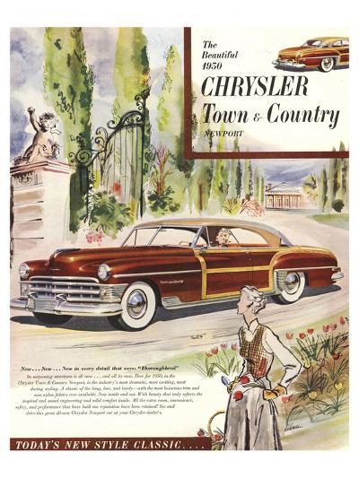 1950 Chrysler Town & Country--Art Print