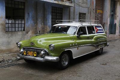 1950's Era Antique Car and Street Scene from Old Havana, Havana, Cuba-Adam Jones-Photographic Print