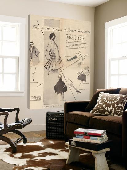 1950's Fashion - Short Coat-Odette Lafontaine-Loft Art