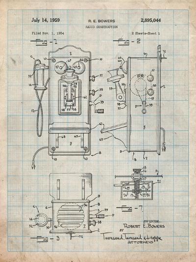 1950's Telephone Patent-Cole Borders-Art Print