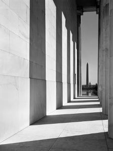 1950s-1960s Washington Monument Seen from Lincoln Memorial Washington DC