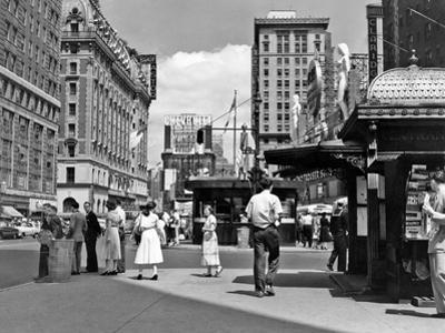 1950s New York City Times Square West 43rd Street Looking North