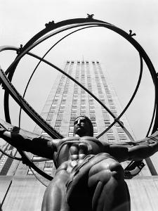1950s Statue of Atlas at Rockefeller Center Midtown Manhattan