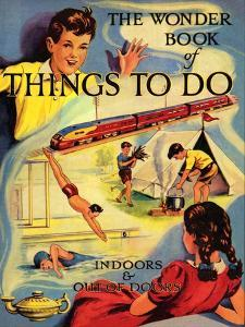 1950s UK The Wonder Book of Things to Do Book Cover