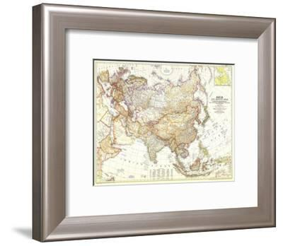 1951 Asia and Adjacent Areas Map-National Geographic Maps-Framed Premium Giclee Print