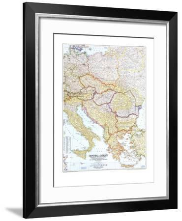1951 Central Europe Map-National Geographic Maps-Framed Art Print