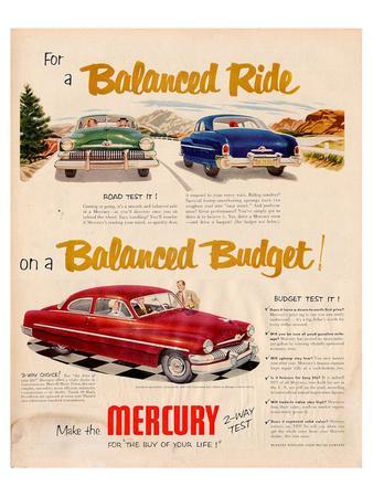 1951 Mercury - Balanced Ride--Art Print