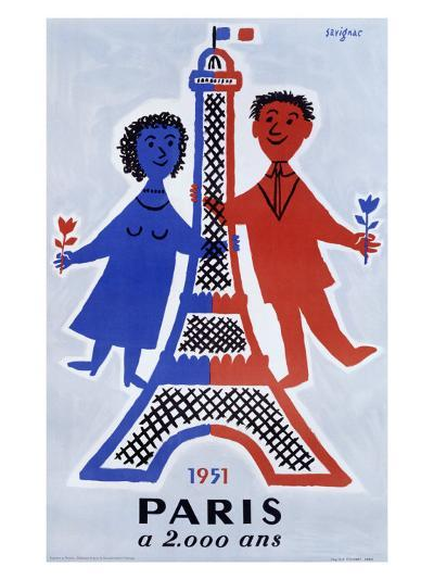 1951, Paris a 2.000 Ans-Raymond Savignac-Giclee Print