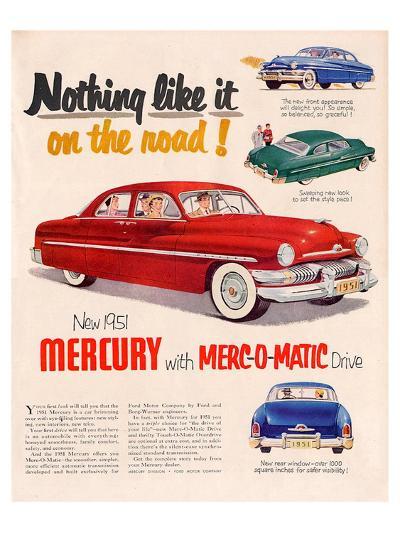 1951Mercury Merc-O-Matic Drive--Art Print