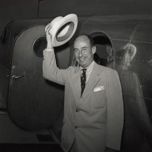 1952 Presidential Nominee Adlai Stevenson Arriving at the Democratic National Convention, Chicago
