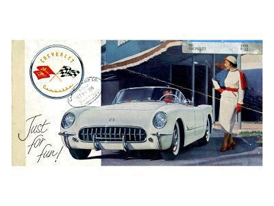 1953 GM Corvette Just for Fun--Art Print