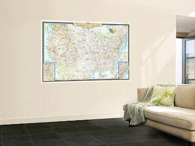 1953 Historical Map of the United States-National Geographic Maps-Wall Mural