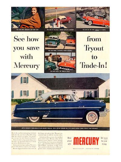 1953 Mercury-See How You Save--Art Print