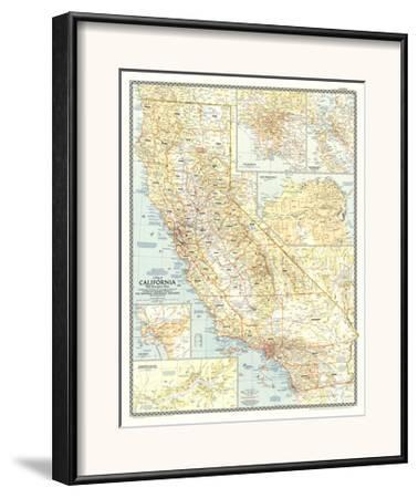 Vintage Map 1922 UNITED STATES Western States; inset of Yosemite Valley