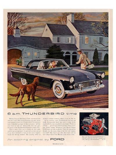 1955 6 A.M. Thunderbird Time--Art Print