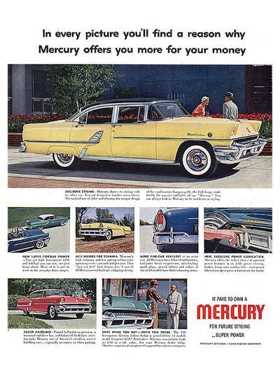 1955 Mercury-Exclusive Styling--Art Print