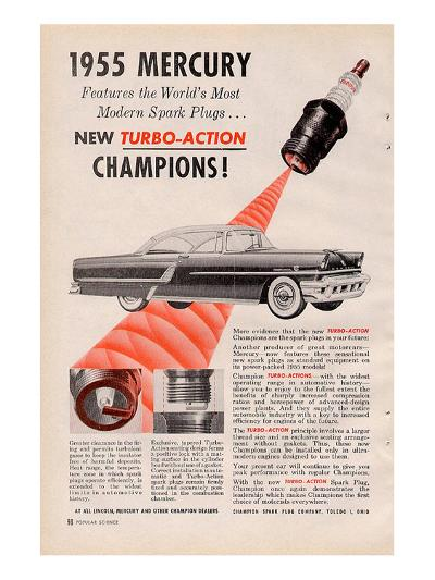 1955 Mercury New Turbo-Action--Art Print