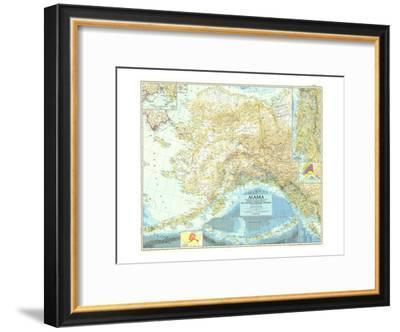 1956 Alaska Map-National Geographic Maps-Framed Art Print