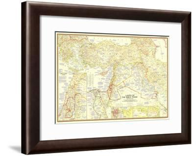 1956 Lands of the Bible Today Map-National Geographic Maps-Framed Art Print