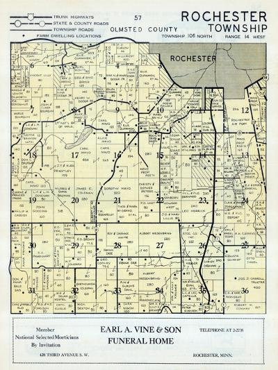 1956, Olmsted County - Rochester Township, Minnesota, United States--Giclee Print