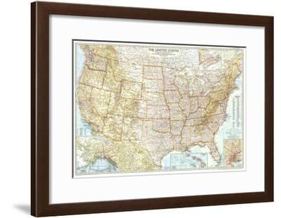1956 United States of America Map-National Geographic Maps-Framed Art Print