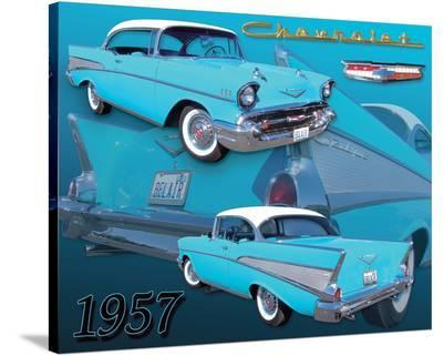 1957 Chevy--Stretched Canvas Print