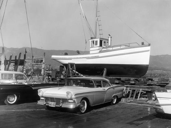 1957 Ford Fairlane, (c1957?)-Unknown-Photographic Print