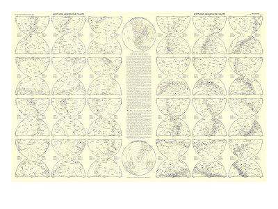 1957 Heavens Star Chart-National Geographic Maps-Art Print