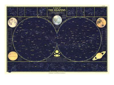 1957 Heavens-National Geographic Maps-Art Print